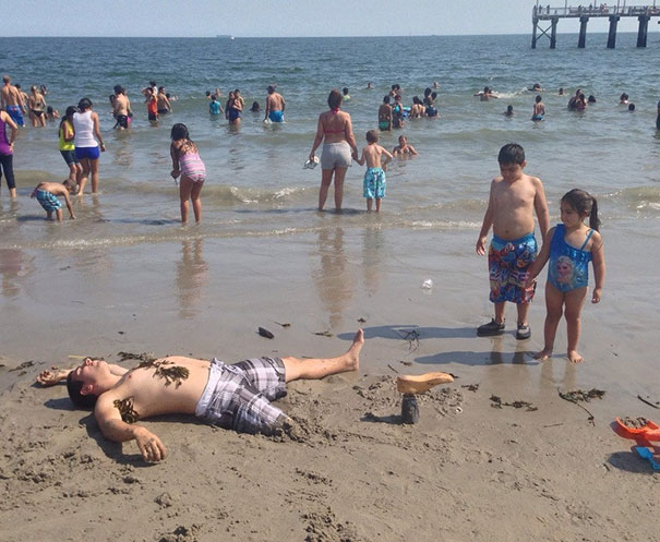 image drole a la plage