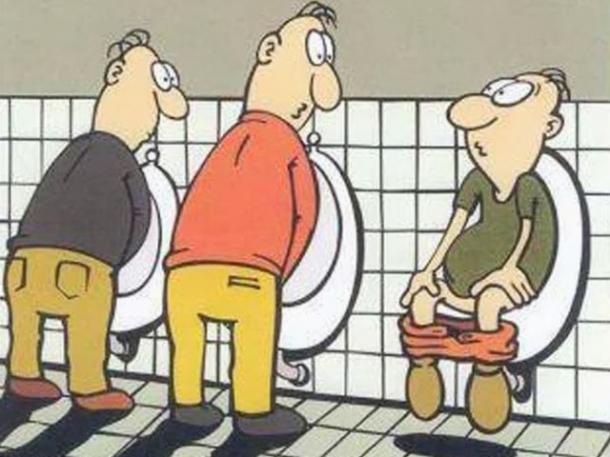 Homme Aux Toilettes Image Drole Societe