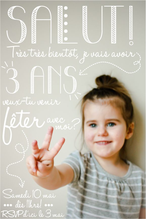 Id e d 39 invitation anniversaire enfant image dr le soci t - Idee anniversaire enfant ...