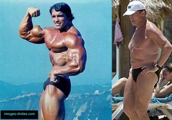 arnold schwarzenegger avant apres - Image drôle - Célébrités Arnold Schwarzenegger
