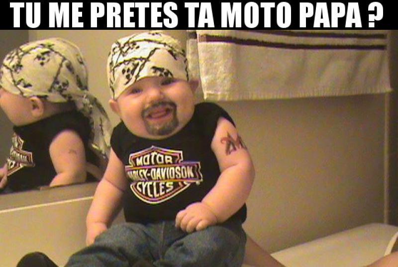 Humour en image du Forum Passion-Harley  ... - Page 6 Bebe-moto