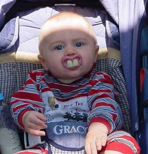 photo drole avec bebe