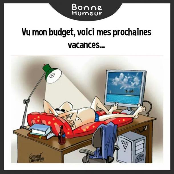Budget Vacances Image Drole Societe