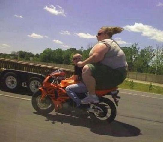 photo rigolote moto