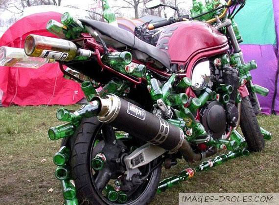 image drole a moto