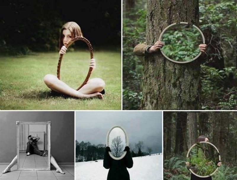 Photos avec miroirs - Image drôle - Insolite